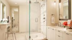 salle de bain design cabine de douche en marbre