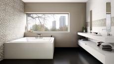 spacieuse et luxueuse salle de bain appartement moderne