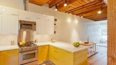 design épuré cuisine en jaune