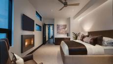jolie chambre avec cheminée