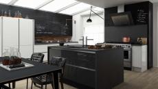 belle cuisine design luxe tableau noir