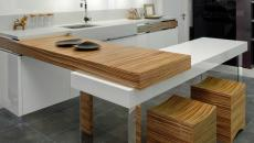 luxueuse cuisine petite et fonctionnelle studio T1