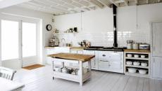 aménagement rustique écaillé cuisine blanche