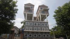 maisons construites sur le toit