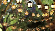 guirlandes lumineuses jardin espace outdoor