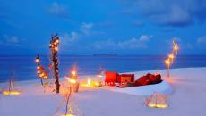 ambiance romantique salon séjour sur la plage