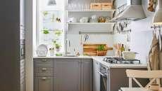 aménagement petite cuisine en forme de L appartement maison de ville