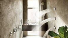 design spa douche béton bois brut