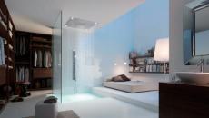 douche chambre à coucher moderne contemporaine