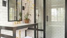 salle de bain douche retro