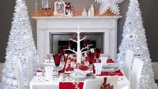 décoration intérieure et table de fête maison noël jour de l'an
