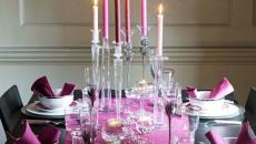décoration table élégante pour Noël