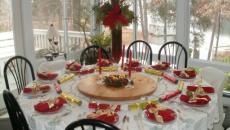 dresser une belle table à la maison pour Noël