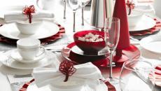 blanc et rouge pour une belle déco de table