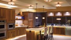 luminaires led cuisine classique décoration