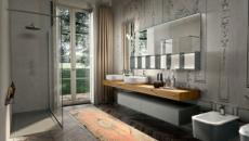 aspect brut salle de bain moderne