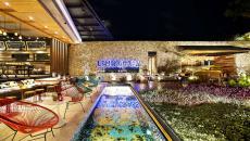 terrasse restaurant design nuit