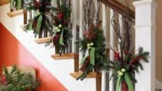 décoration de Noël intérieur escalier