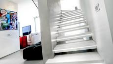 escalier design blanc luxe intérieur déco