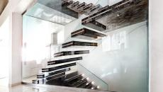 escalier design original illuminé