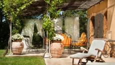 belle pergola design extérieur maison sympa