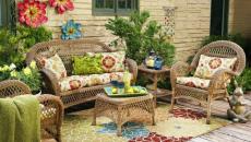 salon de jardin table de jardin meuble outdoor fleurs