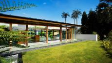 terrasse espaces verts maison exotique d'architecte