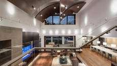 salon spacieux maison prestige architecte