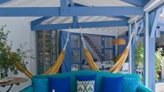 espace aménagé porche maison de vacances biarritz