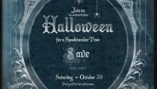 retro invitation Halloween party fête