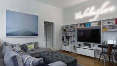 salon de télévision maison familiale rénovée