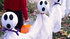 fantômes rigolo jardin déco halloween