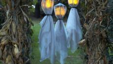lumière mystérieuse fantômes jardin halloween déco