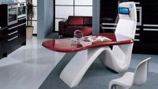 plan de travail comptoir hi-tech design futuriste