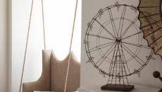 balançoire fauteuil beige design adulte