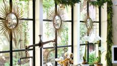 décorer les fenêtres dans l'esprit des fêtes hiver Noël