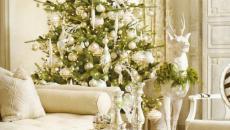 déco arbre Noël séjour moderne beige