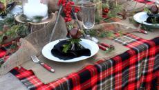 fêter les fêtes de fin d'année outdoor table déco rustique