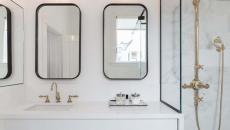 salle de bain design luxe marbre blanc