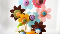 fabriquer fleurs avec boutons belle maison