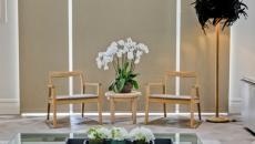 intérieur moderne décoration florale
