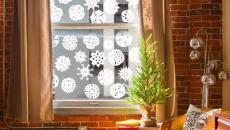 flocons de neige sticker déco pour fenêtre Noël