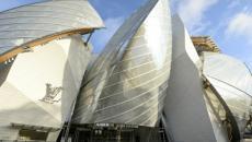 Réalisation futuriste bâtiment siège Fondation Louis Vuitton