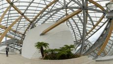 Vue d'intérieur réalisation contemporaine Fondation Louis Vuitton