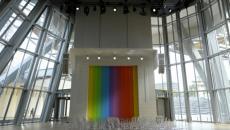 Intérieur imposant bâtiment architecture fondation Louis Vuitton