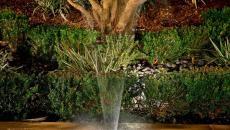 fontaine éclairée paysagiste professionnel