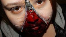 terrifiant maquillage Halloween visage femme
