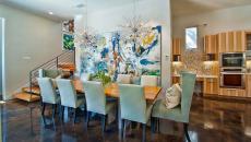 salle à manger maison contemporaine tableau déco