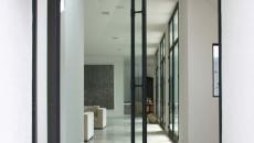 porte d'entrée maison d'architecte en verre