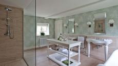 salle de bain luxe papier peint